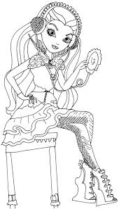 Free Printable Ever After High Coloring Pages Raven Queen Page