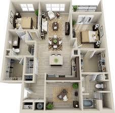 3d 2 Bedroom Apartment