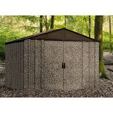 arrow galvanized steel storage shed 10x8 arrow shed camo 10 x 8 ft steel storage shed walmart
