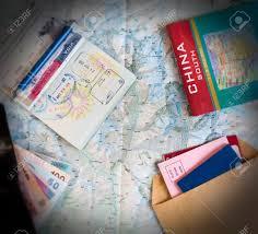 bureau pour passeport bureau de voyageur fréquent vue de dessus la composition des