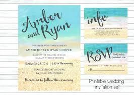 Wedding Invitations Beach Romantic Sunset Palm