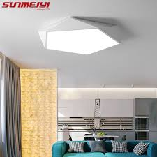 led chambre dimmable led ceiling ls design creative geometry luminaria living