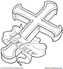Drawings Tattoo Drawing Ideas Cross Tattoos