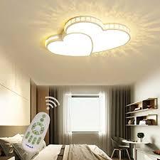 led dimmbar deckenleuchte schlafzimmer wohnzimmer kinderzimmer decke le mit fernbedienung liebe herz design acryl schirm kristall deko