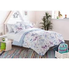Twin Horse Bedding by Mainstays Kids Pretty Horses Bed In A Bag Bedding Set Walmart Com