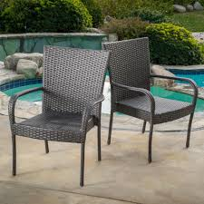 Noble House Gray Stackable Wicker Outdoor Dining Chair (Set ... Gdf Studio Dorside Outdoor Wicker Armless Stack Chairs With Alinum Frame Dover Armed Stacking With Set Of 4 Palm Harbor Stackable White All Weather Patio Chair Bay Island Noble House Multibrown Ding 2pack Plowhearth Bistro Two 30 Arm Brown 51 Bfm Seating Ms11cbbbl Gray Rattan Inoutdoor Restaurant Of Red By Crosley Fniture