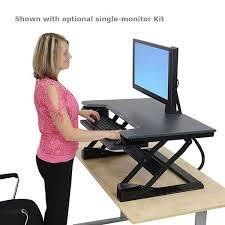 Ergotron Sit Stand Desk Manual by T Desktop Sit Stand Workstation Desk