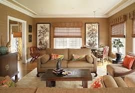 Brown Couch Living Room Design by Asian Inspired Living Room Ideas