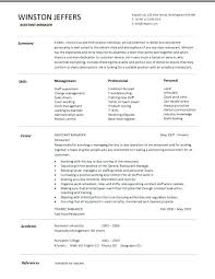 Food And Beverage Director Job Description Restaurant Assistant Manager Resume Templates Example Throughout Supervisor