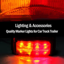 4X 8 LED Clearance Lights RED AMBER Side Marker Indicator Trailer ... Trucklite Yellow 10 Series 212 Mkerclearance Lamp 10205y Round Led Truck And Trailer Lights Side Clearance New Sun 2pc 6 Oval Brake Stop 8946a Signalstat Replacement Lens For Marker Best Led Clearance Lights Camper Amazoncom Blue Cab Youtube 5pcs Clear Amber Roof Top Running High Profile 8 Diode Partsam 20 Pcs Amber 2 Beehive Led Boat 8947a Rectangular