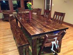 James 8 Farmhouse Table In Vintage Dark Walnut Stain Rustic Dining Room