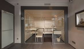 stylish geradlinige designsauna in heller espe corso sauna