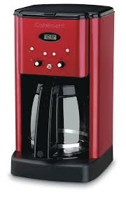 Amazon Cuisinart DCC 1200MR 12CUP Programmable Coffeemaker 12 Cup Metallic Red Drip Coffeemakers Kitchen Dining