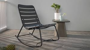 MADE Essentials Tice Rocker, Grey - Garden Chairs & Sofas - Garden ...