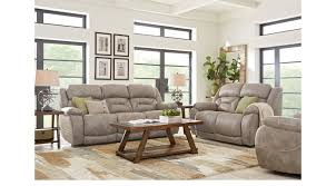 100 2 Sofa Living Room Griffin Valley Taupe Pc With Triple Power Reclining