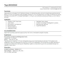 Hvac Resume Sample For Technician Throughout
