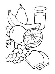 Healthy Food Clipart Black