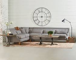 Tribecca Home Uptown Modern Sofa by Magnolia Home Chisel Sectional Sofa Living Room Farmhouse