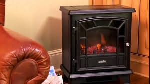 Decor Flame Infrared Electric Stove by Duraflame Freestanding Electric Stove Dfs 550blk Youtube