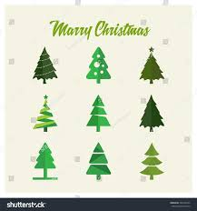 Christmas Tree Types Oregon by Merry Christmas Tree Card Vector Illustration Stock Vector