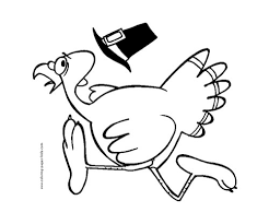 Where Are Your Toddlers Favorite Places To Run Why Is This Turkey Running If You Want Go There Print Coloring Page By Kid