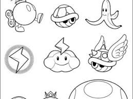 Mario Kart Coloring Pages Super Bros On