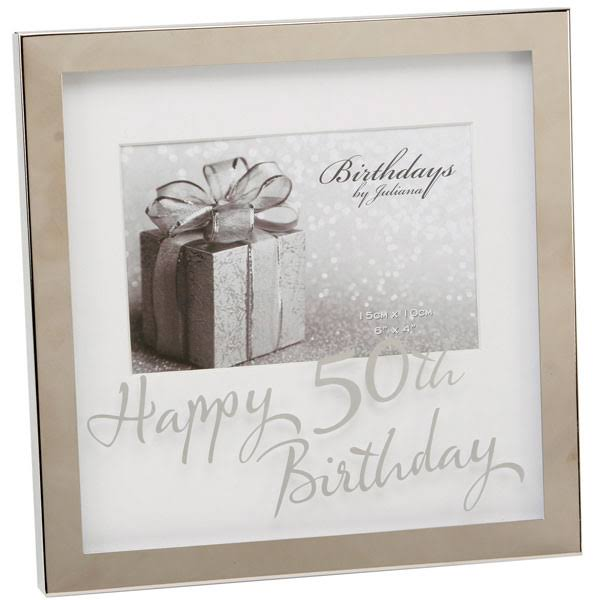 WIDDOP Birthdays by Juliana 6x4 Inch Mirror Print Box Frame - 50th