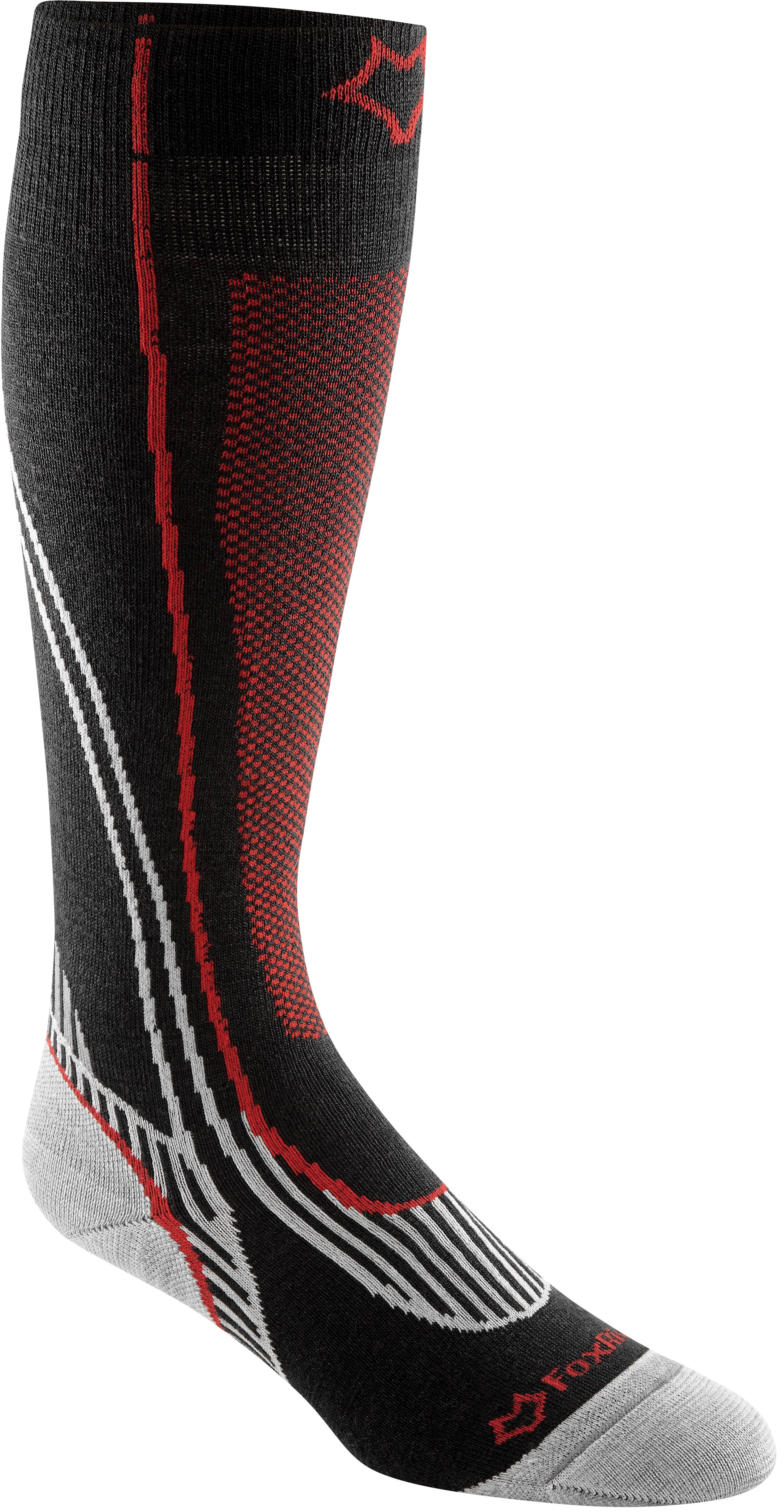 Fox River 546261 Arapahoe Ski Sock Black & Red - Large