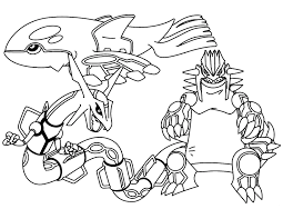 Legendary Pokemon Coloring Pages Rayquaza Collection