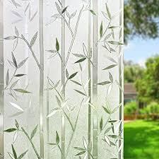 umi 3d fensterfolie sichtschutz folie fenster selbstklebend für badezimmer schlafzimmer küche bambus 44 5 x 200 cm