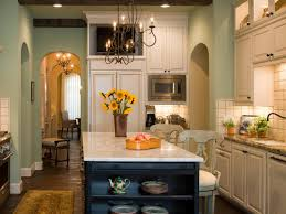 Marvelous Color Combine Of White And Blue Kitchen Island With Awesome Cabinet Base Ceramic