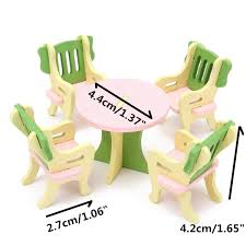 Wooden Baby Doll Furniture Set