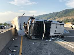 100 Milk Truck Accident 2 Lanes Of I15 Closed In West Bountiful After Truck Pulling Trailer