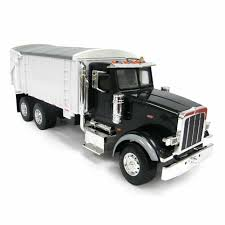 100 Black Truck Box 116th BIG FARM Peterbilt 367 With Grain In