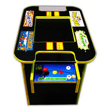 Galaga Arcade Cabinet Kit by 60 In 1 Multicade Cocktail Two Player Sit Down Arcade Game Pac