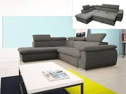 canape angle avec coffre canapé d angle convertible en tissu taupe ou noir fabien
