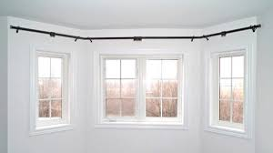 awesome double bay window curtain rod remodel bay windows ideas