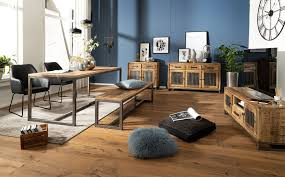 wohnling esszimmerbank 175 x 46 x 45 cm mango massivholz metall holzbank vintage esstischbank massiv ohne rücken lehne küchenbank essbank groß