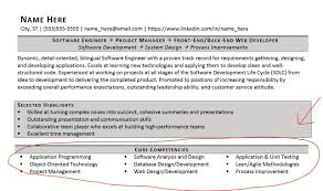 Agile Project Management Resume How To Make A Manager Core Competencies Examples