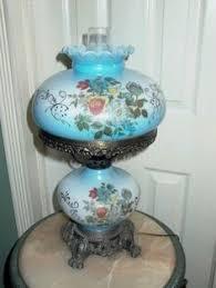 Ebay Antique Lamps Vintage by Antique Vintage Gwtw Oil Kerosene Victorian Hand Painted Glass