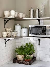 Kitchen Shelves Ideas Modern White Dining Chairs Wall Mounted Range Hood Vase Flower Decoration Little Espresso