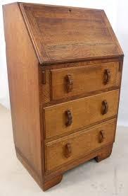oak writing bureau furniture small solid oak writing bureau desk it