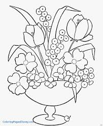 Coloring Pages Vase Lovely Cool Vases Flower Vase Coloring Page