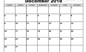 Free Monthly Calendar August 2018