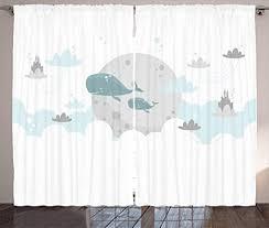 abakuhaus skandinavisch rustikaler gardine wale mond schlösser schlafzimmer kräuselband vorhang mit schlaufen und haken 280 x 175 cm teal grau