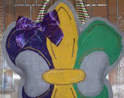 Burlap Mardi Gras Door Decorations by Mardi Gras Door Etsy
