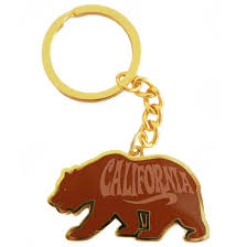 California Republic Bear Keychain