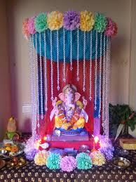 Varalakshmi Vratham Decoration Ideas Usa by Ganpati Decoration Ideas At Home With Theme Ganpati Decor