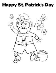 Happy St Patricks Day Say Leprechaun Coloring Page