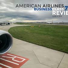 Review American Airlines Business Class London To New York 777200
